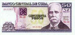 2014 -- 50  PESOS BANCO CENTRAL- CALIXTO GARCIA -  BCC -- UNCIRCULATED .! - Cuba