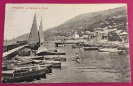 TRIESTE - BARCOLA PORTO - CANNOTTIERI IN ALLENAMENTO - VIAGGIATA 1912 - Voile