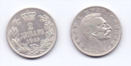 Serbia 2 Dinara 1915 (KM# 26.3) - Serbie
