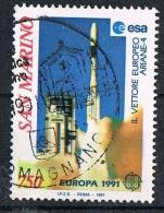 1991 - SAN MARINO - EUROPA - LO SPAZIO. USATO - San Marino