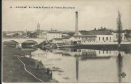 COGNAC , Le Pont De Crouin Et L' Usine Electrique , CPA ANIMEE - Cognac