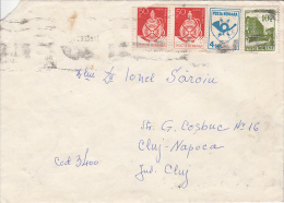 31522- FLASK, POST HORN, HOTEL, STAMPS ON COVER, 1993, ROMANIA - 1948-.... Républiques
