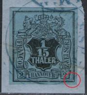 Hildesheim 3/9 Auf 1/15 Thaler Graublau - Hannover Nr. 4 - Hannover
