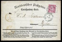 A3544) AD NDP Karte Von Bevensen 4.3.71 Nach Itzehoe Mit Schnittlinie Rechts !!