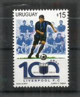 URUGUAY. Centenaire Du F.C Liverpool.  Un T-p Neuf **, Année 2015 - Clubs Mythiques