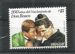 URUGUAY.  Saint Jean Bosco, Bi-centenaire De Sa Naissance.  Un T-p Neuf **  Année 2015 - Christianisme
