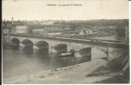 COGNAC , Le Pont Sur La Charente  , 1914 , CPA ANIMEE - Cognac