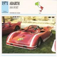 Abarth 3000 Sport (Course)  -  1971   -  Fiche Technique Automobile (Italie) - Voitures