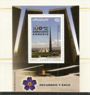 URUGUAY.  Centenaire Du Génocide Arménien,  Un Bloc-feuillet Neuf **  Année 2015 (haute Faciale) - Uruguay