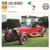 Alfa Romeo  1750 Grand Sport   -  1929   -  Fiche Technique Automobile (Italie) - Voitures