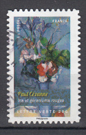 France 2015 Mi Nr 6127 Iris En Rode Geraniums Van Paul Cézanne - France