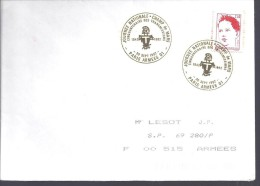 Enveloppes BPM Paris Armées 01 Cinquantenaire Des Transmissions, 1992 - Postmark Collection (Covers)