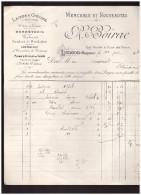 Facture BOIRAC ( Mercerie, LANGON, Gironde)  1911 (PPP1489) - Textile & Clothing