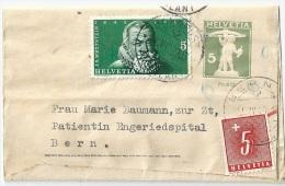 Taxiertes Streifband 48  Bahnpost Ambulant - Bern                 1948 - Ganzsachen