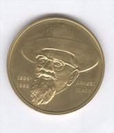 Jeton Commemoratif De La Naissance De L'écrivain Belge Ernst Claes - 1885 1985 - Non Classés