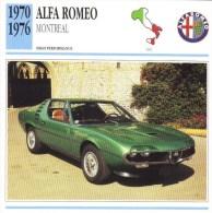 Alfa Romeo  Montreal  -  1970  -  Fiche Technique Automobile (Italie) - Voitures