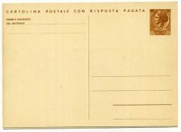 1966 REPUBBLICA ITALIANA C169 ** - CARTOLINA POSTALE CON RISPOSTA PAGATA - 6. 1946-.. Repubblica
