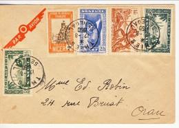 Senegal, 12 Ago 1950, Lettera Thies - Orano (Algeria) Con Insolita Affrancatura Mista (3 Senegal AOF, 1 Togo, 1 Niger) - Covers & Documents