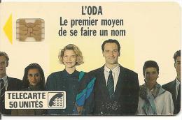 CARTE-PUCE-PRIVEE-D-50U-D92-SC4Ob-1989-ODA-V° Impacts-11720-UTILISE-BE - Francia