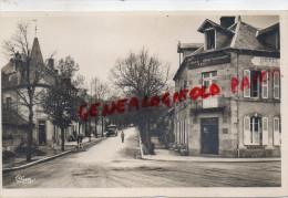 23 - FELLETIN - AVENUE DE LA GARE   CARTE PHOTO 1942- CAFE RESSTAURANT HOTEL DE LA GARE - Felletin