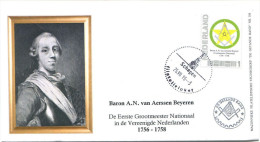 FDC (Env) PAYS BAS Nederland 2015 - Masonic Franc Maconnerie Freemasonry Freimaurerei Loge (N 79) - Franc-Maçonnerie