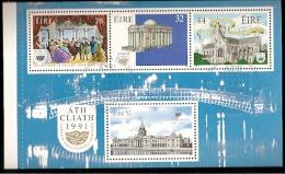 Ireland & 50th Anniversary Of Grand Opera, Dublin European Capital Of Culture 1991 (1) - Blocchi & Foglietti