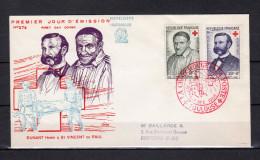 """FRANCE 1958 : Env. 1er Jour """" CROIX ROUGE :  DUNANT ... """" Oblitérat° TOULOUSE N°YT 1187 1188. Voir Les Scans R/V !"""