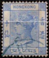 HONG-KONG -  10 C. De 1882/1902 Oblitéré TB - Hong Kong (...-1997)