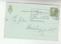 1947 DENMARK  POSTAL STATIONERY Lettercard CHRISTMAS SLOGAN Stamps Cover Religion - Postal Stationery