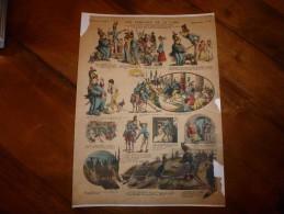 Vers 1900    Imagerie  Pellerin       LES POMPIERS DE LA LUNE à Bicoque-la-Chétive         Imagerie D'Epinal  N° 435 - Vieux Papiers