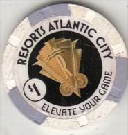 USA - Resorts Atlantic City, Chip $1 - Casino