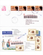 E) 1999 CHINA, WORLD PHILATELIC EXHIBITION, CIRCULATED COVER MULTIPLE FROM CHINA TO ECUADOR - 1949 - ... République Populaire