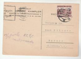 1937 Krakow POLAND Stamps COVER (card) - 1919-1939 Republic