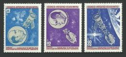 BULGARIA 1975 SPACE APOLLO SOYEZ SPACE LINK SET MNH - Bulgaria