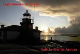 Lighouses Of Spain - Galicia/Isla De Arousa Postcard Collector - Faros