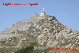 Lighouses Of Spain - Galicia/Islas Cíes Postcard Collector - Faros