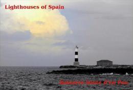 Lighthouses Of Spain (Baleares)  - Islote D'en Pou Postcard - Phares