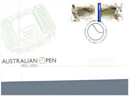 (995) Australian Open Tennis FDC Cover + 2 Maxicards - Premiers Jours (FDC)