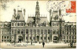 75004 PARIS - Hôtel De Ville, Façade Du Pavillon Central - Tout Paris, Bromure Viré - Arrondissement: 04