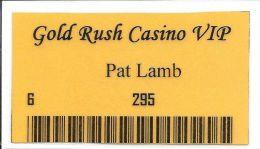 Gold Rush Casino Butte, MT Paper Card - Casino Cards