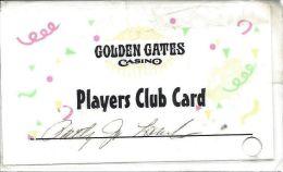 Golden Gates Casino Black Hawk CO Laminated Paper Slot Card - Casino Cards