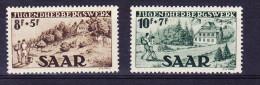 SARRE, MI 262/3, Y&T 250/1  ** MNH,( Quelques Petites Taches Noires Au Verso Du MI 262). (4A144) - 1947-56 Occupation Alliée