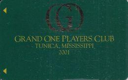 Grand Casino Tunica 2001 Grand One Players Club Slot Card  (Blank) - Casino Cards