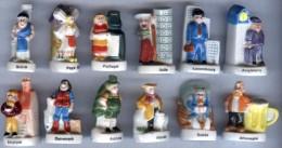 Lot De 12 FÈVES PAYS Série Partez à La Conquète De L´Europe Pasquier Alcara 2001 - Countries