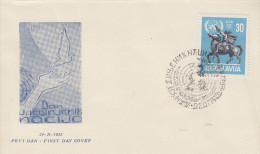 Enveloppe  1er  Jour   YOUGOSLAVIE    10éme  Anniversaire  Des  Nations  Unies   1955 - FDC