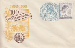 Enveloppe  1er  Jour   YOUGOSLAVIE    Centenaire  De  La  Mort  De  Branko  RADICEVIC   1953 - FDC