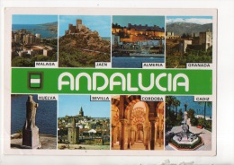 ESPAGNE . ESPAÑA . ANDALUCIA . MALAGA, JAEN, ALMERIA, GRANADA, HUELVA, SEVILLA, CADIZ . MULTI-VUES - Réf. N°12072 - - Espagne