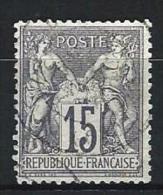 "YT 66 "" Sage Type I 15c. Gris "" 1876 Cachet à Date - 1876-1878 Sage (Type I)"