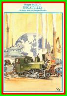 Théme Chemins De Fer Sncf    Les Locomotives  Aquarelle De Roger Bailly  ( Voir Scan Recto Et Verso ) - Trains