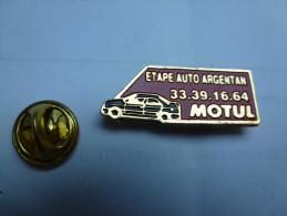 Auto , Garage Etape Auto , Carburant Essence Huile Oil Motul , Argentan ; Orne - Badges